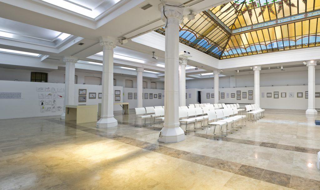 Sala Diario Madrid con 400m2 para alquilar en el centro de Madrid ideal para eventos de grandes dimensines
